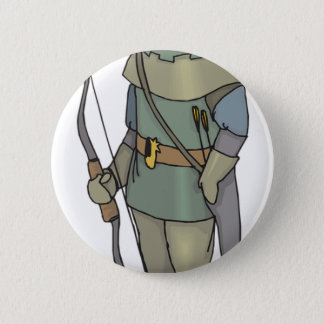 Fantasy Archer Man Bow Arrow 2 Inch Round Button