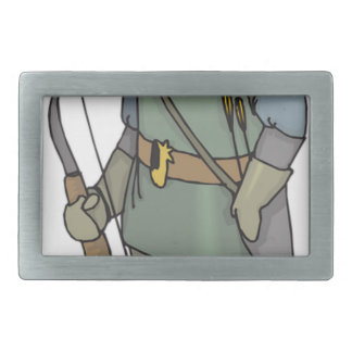 Fantasy Archer Man Bow Arrow Belt Buckle