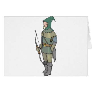 Fantasy Archer Man Bow Arrow Card