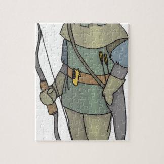 Fantasy Archer Man Bow Arrow Jigsaw Puzzle