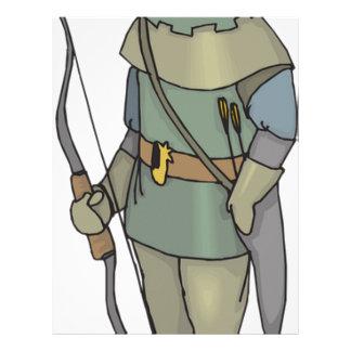 Fantasy Archer Man Bow Arrow Letterhead