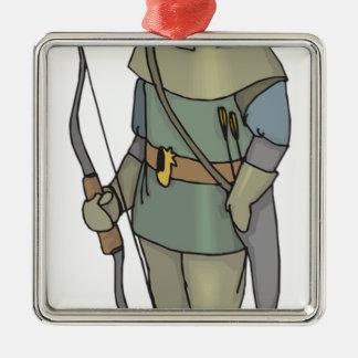 Fantasy Archer Man Bow Arrow Metal Ornament