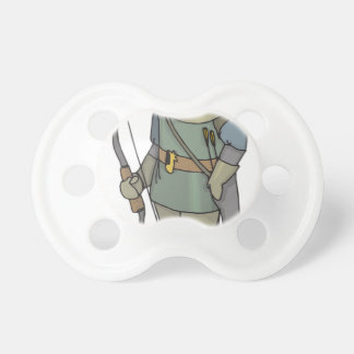 Fantasy Archer Man Bow Arrow Pacifier