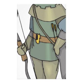 Fantasy Archer Man Bow Arrow Stationery