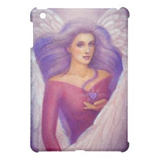 Fantasy Art Amethyst Crystal Heart Angel iPad case