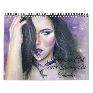 Fantasy Art Calendar 2018 Katerina Art