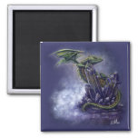Fantasy Art Crystal Dragon Magnet