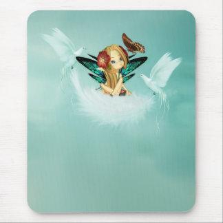 Fantasy Art Mousepad - Fairy With Doves