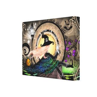 Fantasy Art Nouveau Witch Canvas Print