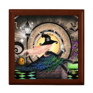 Fantasy art nouveau witch gift box