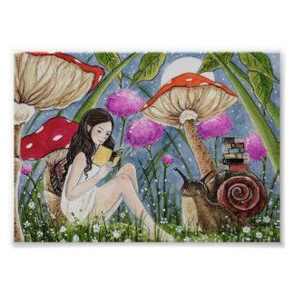 Fantasy Art Photo Print Fairy Snail Books