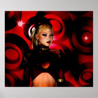 Fantasy Art Poster Red Venus