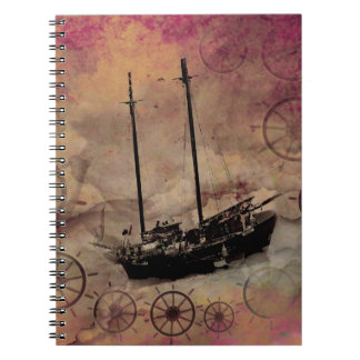 Fantasy Art Steampunk Cloud Ship Journal