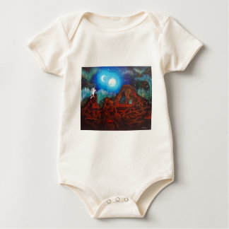 Fantasy aurora borealis, northern lights baby bodysuit