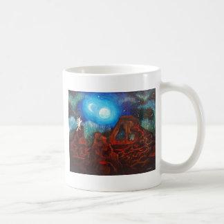 Fantasy aurora borealis, northern lights coffee mug