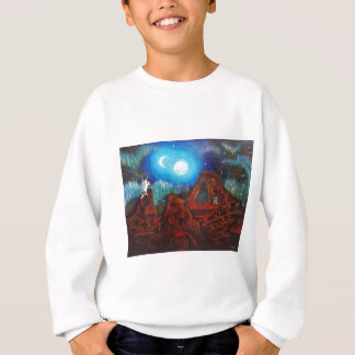 Fantasy aurora borealis, northern lights sweatshirt