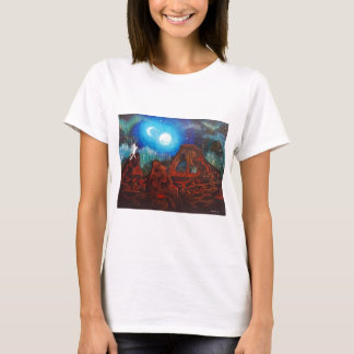 Fantasy aurora borealis, northern lights T-Shirt