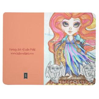 Fantasy Big Eye Girl and Gargoyles Pocket Journal