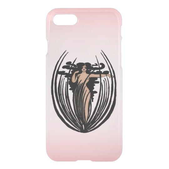 Fantasy Black Hair Goddess Flower iPhone 7 Case