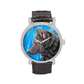 Fantasy Black Wolf Watch