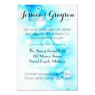 Fantasy Blue Bubbles - Reception Invitation