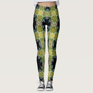 FANTASY BLUE FLAMES LEGGINGS