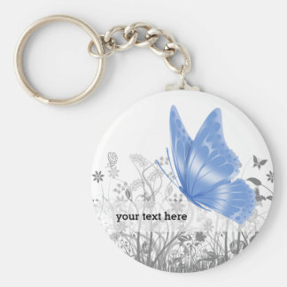 Fantasy butterfly * choose background color keychain