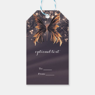 Fantasy Butterfly Gold Sparkle Pack Of Gift Tags