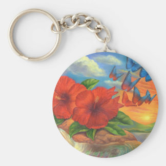 Fantasy Butterfly Landscape Painting - Multi Keychain