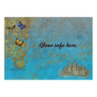 Fantasy Castle Business Cards/ Table Cards Pack Of Chubby Business Cards