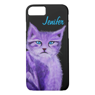 Fantasy Cat with blue eyes iPhone 7 Case