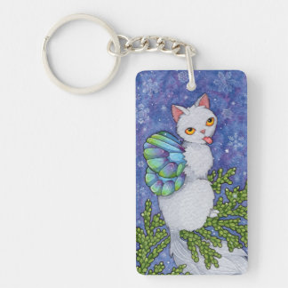 Fantasy Cats Oracle Affirmation - Diversity Double-Sided Rectangular Acrylic Keychain
