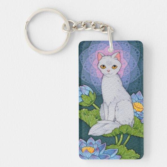 Fantasy Cats Oracle Affirmation - Mindfulness Double-Sided Rectangular Acrylic Keychain