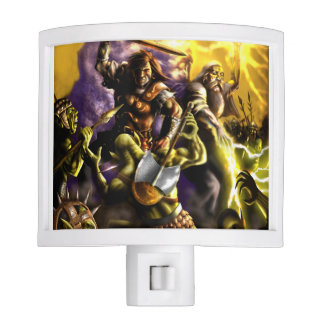 Fantasy Characters Battle Wizard Warrior Night Lites
