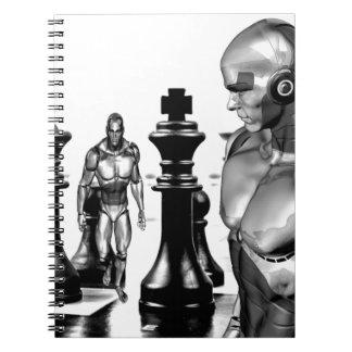 Fantasy chess spiral note books