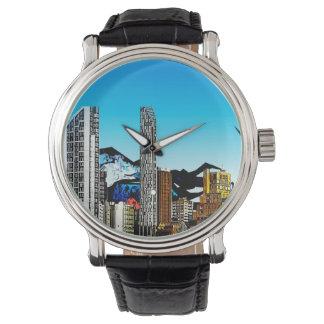 Fantasy cityscape wristwatch