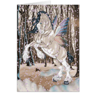 Fantasy Clydesdale Horse Fairy Card
