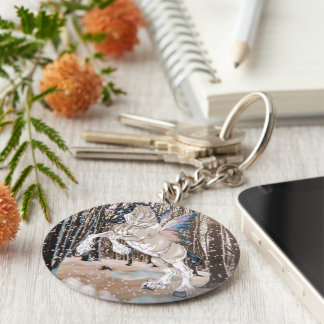 Fantasy Clydesdale Horse Fairy Keychain