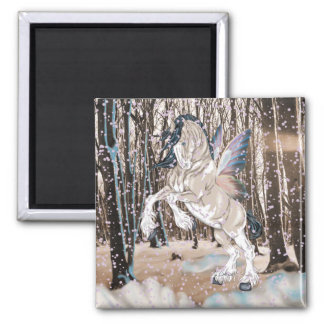 Fantasy Clydesdale Horse Fairy Magnet