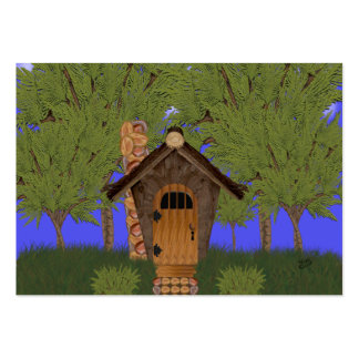 Fantasy Cottage with Cedar Trees Gift Tag Large Business Card