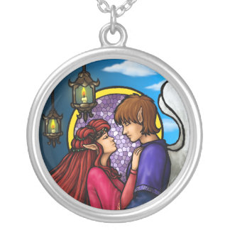Fantasy Couple Silver Plated Necklace