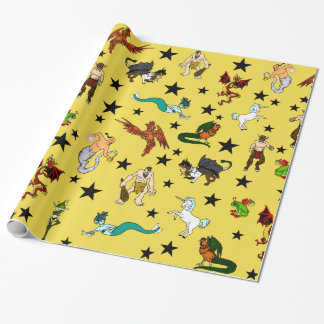 Fantasy Creatures Wrapping Paper