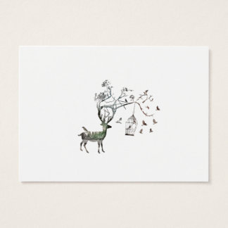 Fantasy Deer with Birds Business Card