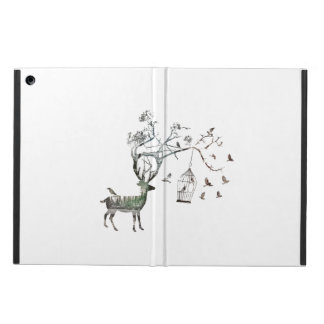 Fantasy Deer with Birds iPad Air Cases