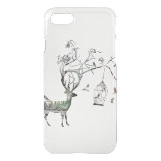 Fantasy Deer with Birds iPhone 7 Case