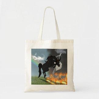 Fantasy Demon Angel Horse Creature Tote Bag