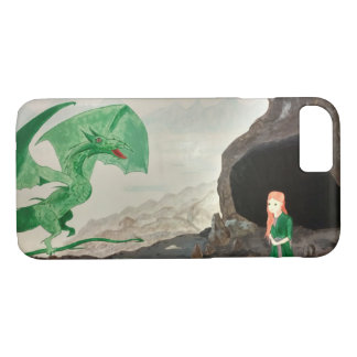 Fantasy Dragon and girl Case-Mate iPhone Case