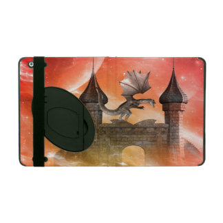 Fantasy, dragon on the castle case for iPad