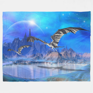 Fantasy Dragons Large Fleece Blanket