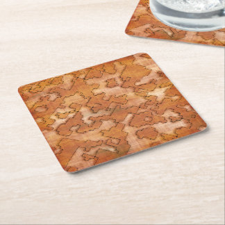 fantasy dungeon maps 2 square paper coaster
